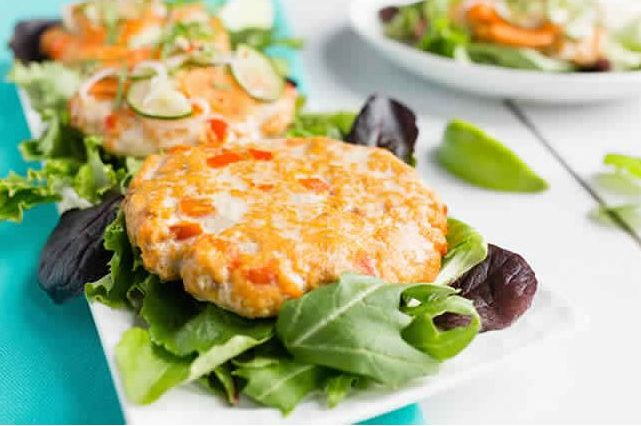 Thai Salmon Burgers with Pickled Cucumber Slaw