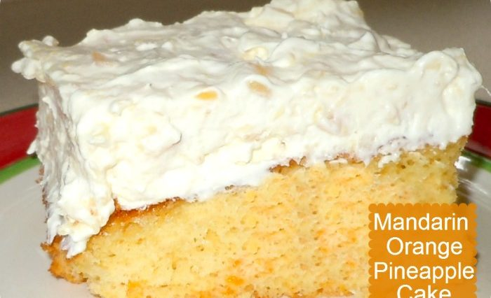 Tasty Mandarin Orange Pineapple Cake