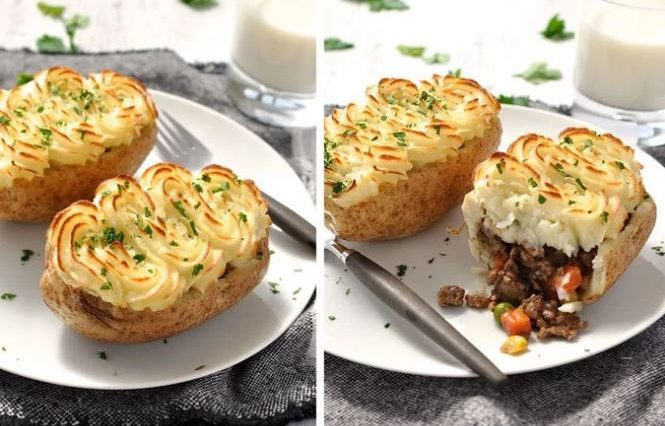 Shepherd's Pie Cottage Pie Stuffed Potatoes