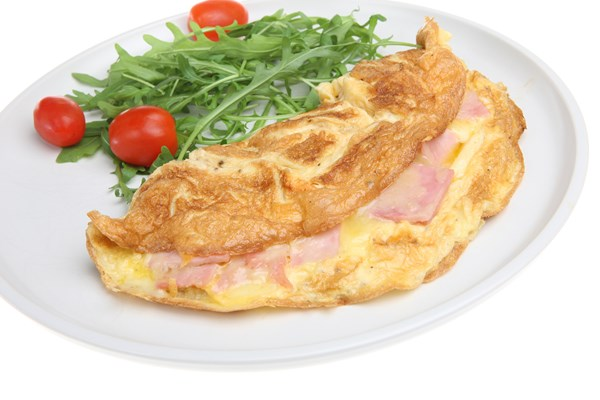 Ham and Parmesan Cheese Omelet
