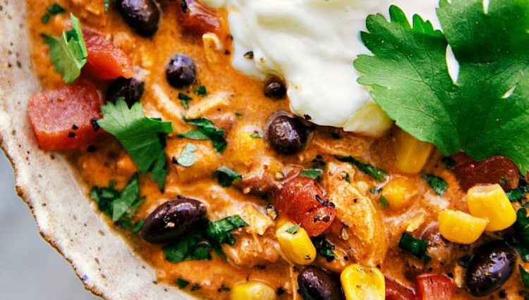 EASY CROCKPOT CHICKEN ENCHILADA CHILI