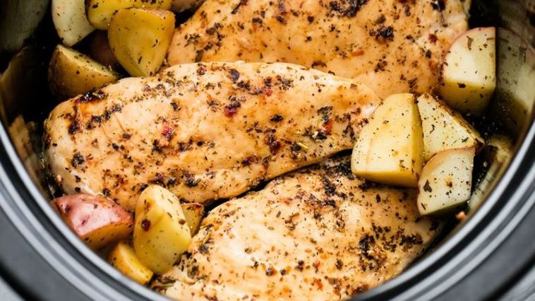 Slow Cooker Herbed Chicken & Potatoes