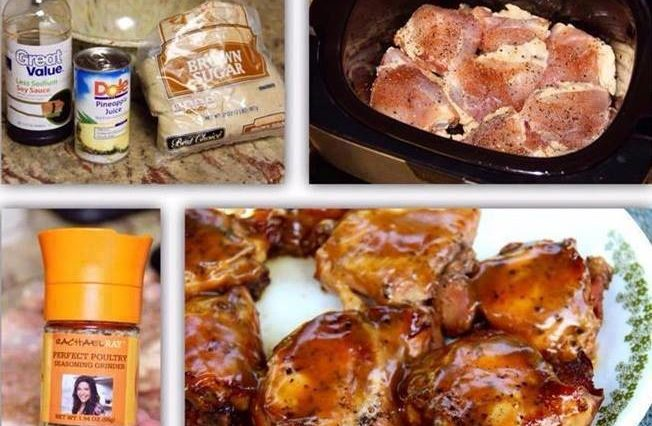 SLOW COOKER BROWN SUGAR CHICKEN