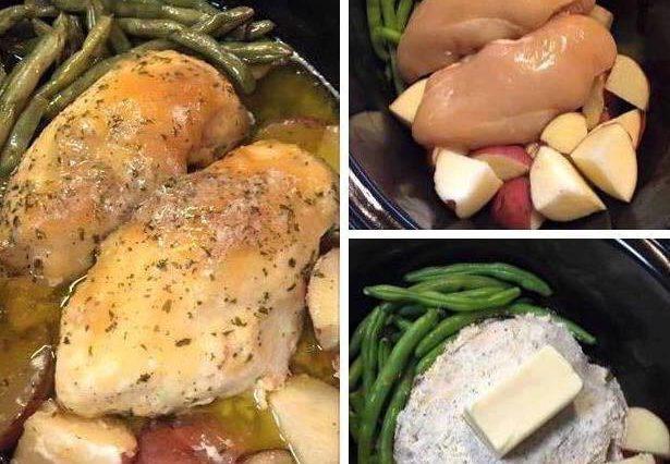 Crockpot Chicken Vegetables (Mississippi Roast Style)
