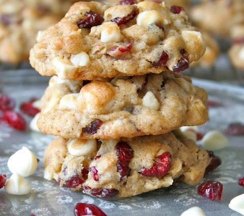 Oatmeal Cranberry-Walnut Cookies