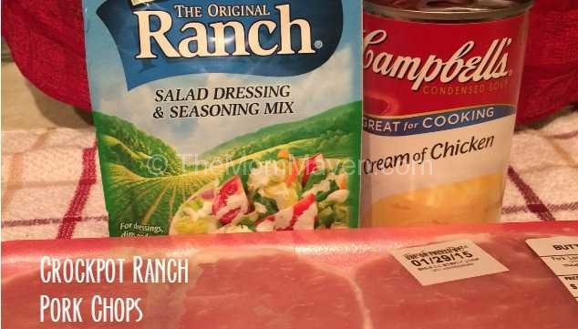 3-Ingredient Crockpot Ranch Pork Chops