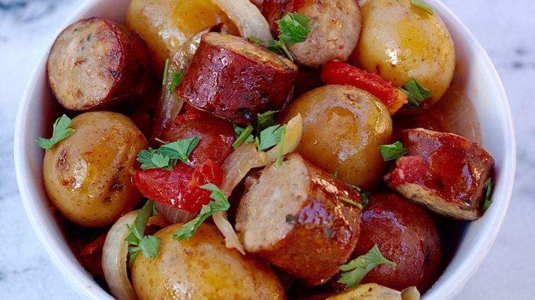 Slow Cooker Sausage & Potatoes