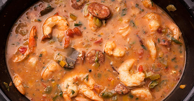 Here's how to make Slow Cooker Shrimp Gumbo: