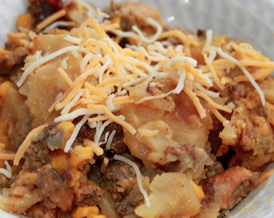 Crock Pot Hamburger Potato Casserole
