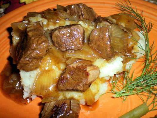 Beef Tips and Gravy
