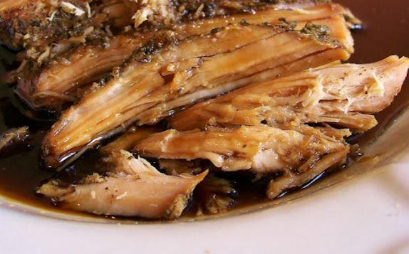 Slow Cooked Sweet Balsamic Glazed Pork Tenderloin