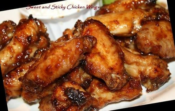 SWEET STICKY CHICKEN WINGS