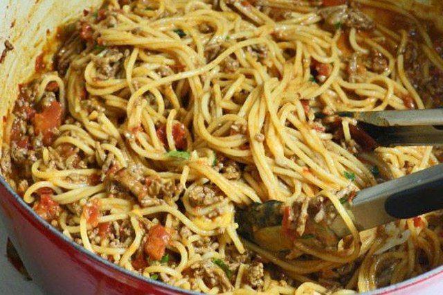 Delicious Taco Spaghetti