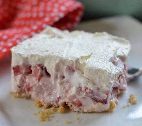 Looks delicious! Strawberry Cheesecake Lush!