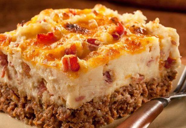 Cowboy Meatloaf and Potato Casserole