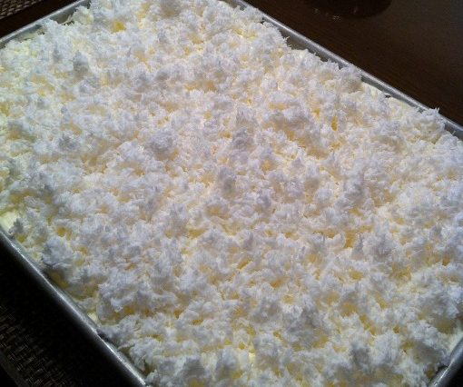 Very Moist Coconut Sheet Cake