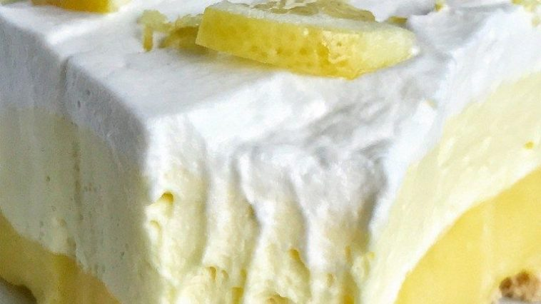 {NO BAKE} TRIPLE LAYER LEMON PUDDING PIE