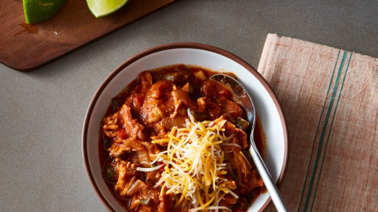 Slow Cooker Ancho Chicken Chili