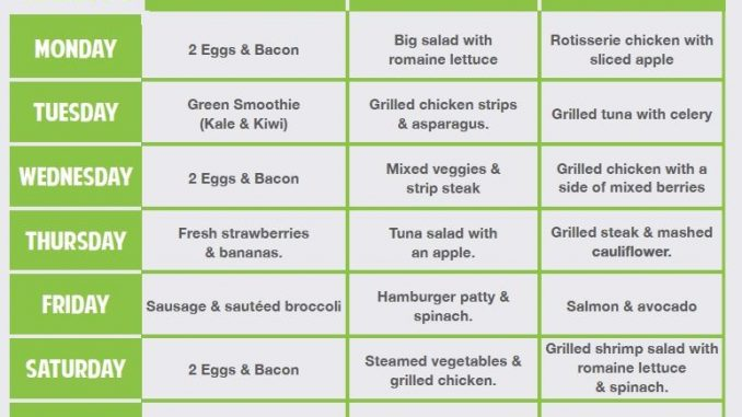 KETOGENIC DIET PLAN FOR WEIGHT LOSS: 7-DAY KETO MEAL PLAN ...