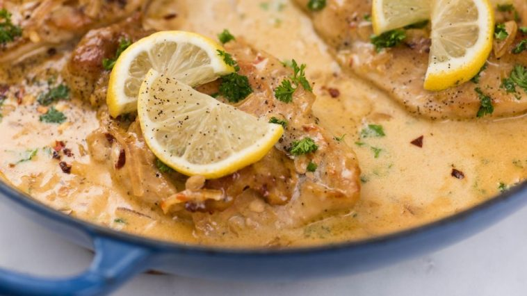 Slow-Cooker Lemon Garlic Chicken